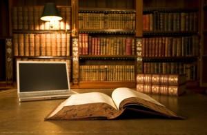 Bibliothek mit Buecherregal