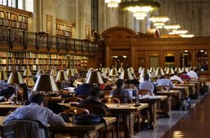 Lesesaal Bibliothek
