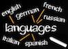 Tafel mit Sprachen
