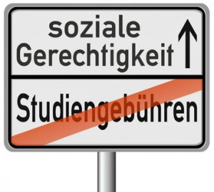 Schild Studiengebühren
