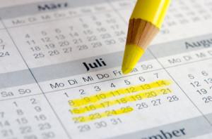 Kalender: Bildungsurlaub-Planung