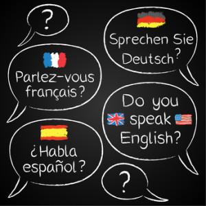 Sprachwolke und Sprachen lernen