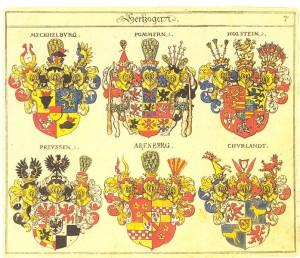 Wappenbuch Siebmachers mit einigen Wappen von 1605